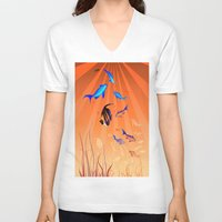 under the sea V-neck T-shirts featuring Under The Sea by Robin Curtiss