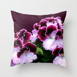 Pink Purple Flower Power Throw Pillow
