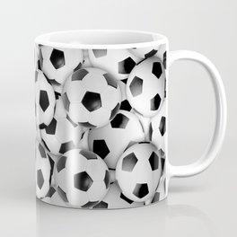 White Soccer Balls Everywhere Coffee Mug