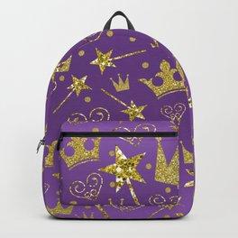 Purple & Gold Glitter Princess Backpack