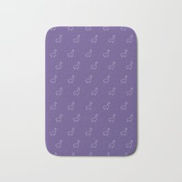 Baesic Llama Pattern (Ultra Violet) Bath Mat