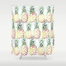 Retro Pineapples Shower Curtain