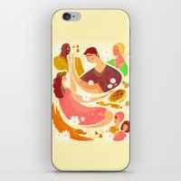 pushing daisies iPhone & iPod Skins featuring Pushing Daises by Hannah Bess Ross