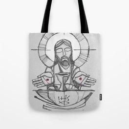 Jesus Christ Eucharist illustration Tote Bag
