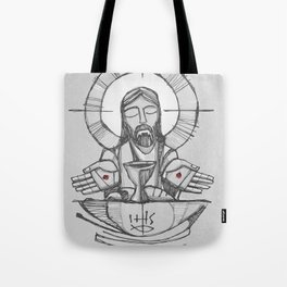 Jesus Christ Eucharist illustration Tote Bag
