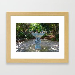 Naples birdbath- horizontal Framed Art Print