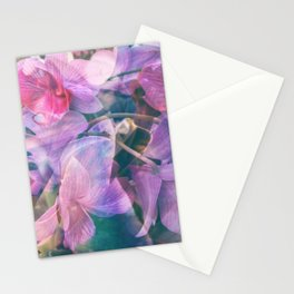 orchid mashup Stationery Cards