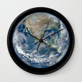 North America from Low Orbit Wall Clock