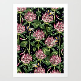 night work in the garden Art Print