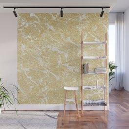 Modern faux gold glitter stylish marble effect Wall Mural