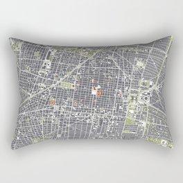 Mexico city map engraving Rectangular Pillow