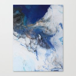 Abstract blue marble Canvas Print