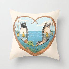 Duck Love Throw Pillow
