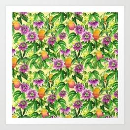 Passiflora vines Art Print