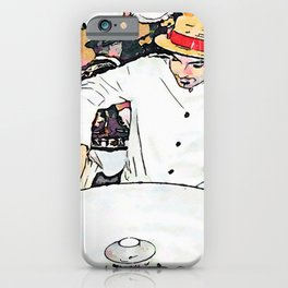 Barbarano Romano: the candy floss seller and girl iPhone Case