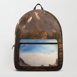 The Three Sisters - Mountain range inspired by Canmore / Banff Alberta, Canada Backpack