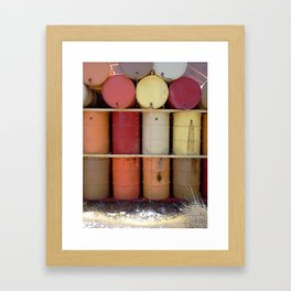 Barrel fountain  Framed Art Print