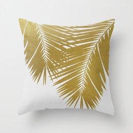 Palm Leaf Gold II Throw Pillow