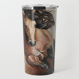 Buckskin running Travel Mug