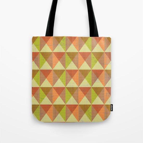 Triangle Diamond Grid Tote Bag