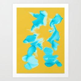 Color Blotch Art Print