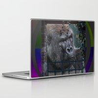 gorilla Laptop & iPad Skins featuring Gorilla by SwanniePhotoArt