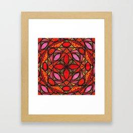 Red Zen Love Framed Art Print