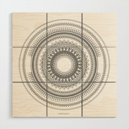 Medallion Mandala Wood Wall Art
