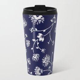 Indigo Floral Trail Travel Mug