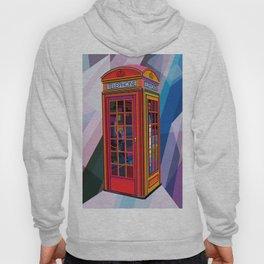 Pop Art London Vector Artist CONQR Telephone Booth Hoody
