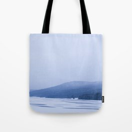 Frozen Allegany Lake Tote Bag
