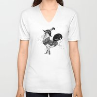 pirate V-neck T-shirts featuring Pirate by Sarinya  Withaya