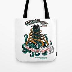 Obsidian Waves Tote Bag
