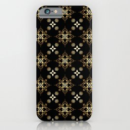 Golden Lotus flower Mandala Pattern Elegant Art iPhone Case