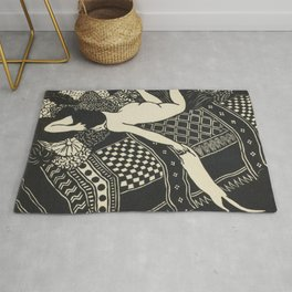 Woman With Cat Rug