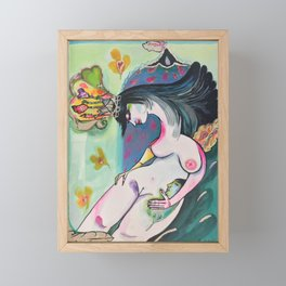 Queen with the King on her fingertip Framed Mini Art Print