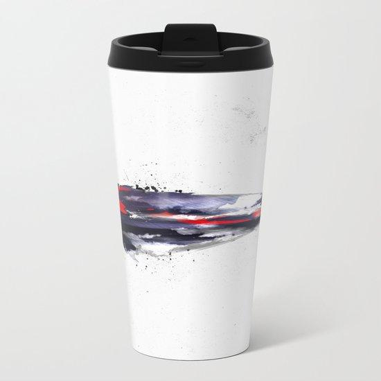 The American feather Metal Travel Mug