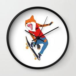 Skate Fox Wall Clock