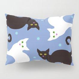 Cats Blue Pillow Sham