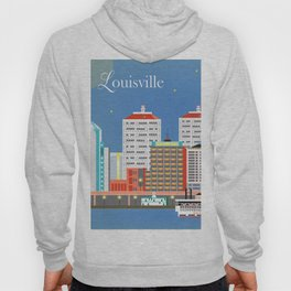 Louisville, Kentucky - Skyline Illustration by Loose Petals Hoody