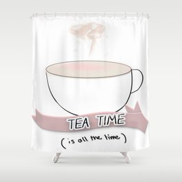 tea time Shower Curtain