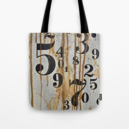 Numeric Values: Crude Figures Tote Bag