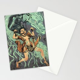 Wind dragon & Psychopomp Stationery Cards
