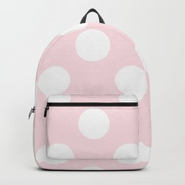 Geometric Orbital Circles In Pale Delicate Summer Fresh Pink with White Dots Backpack