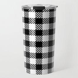 Black & White Vichy Travel Mug