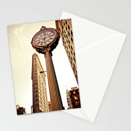 Flatiron Building and Fifth Avenue Clock - New York City Stationery Cards
