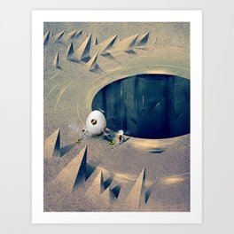 "Lunarize ""Big Hole"" Print Art Print"