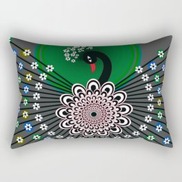 Peacock 5 Rectangular Pillow