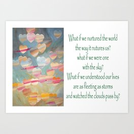 One with the sky Art Print