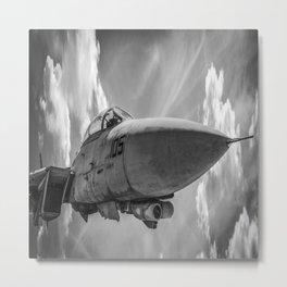 Jet Fighter Military Aircraft Flight Pilot Airplane Print Metal Print
